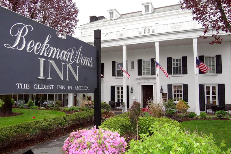 Beekman Arms Inn in Rhinebeck, NY (building front)