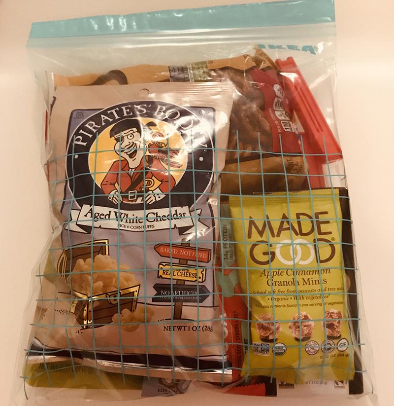 getaway snacks bag
