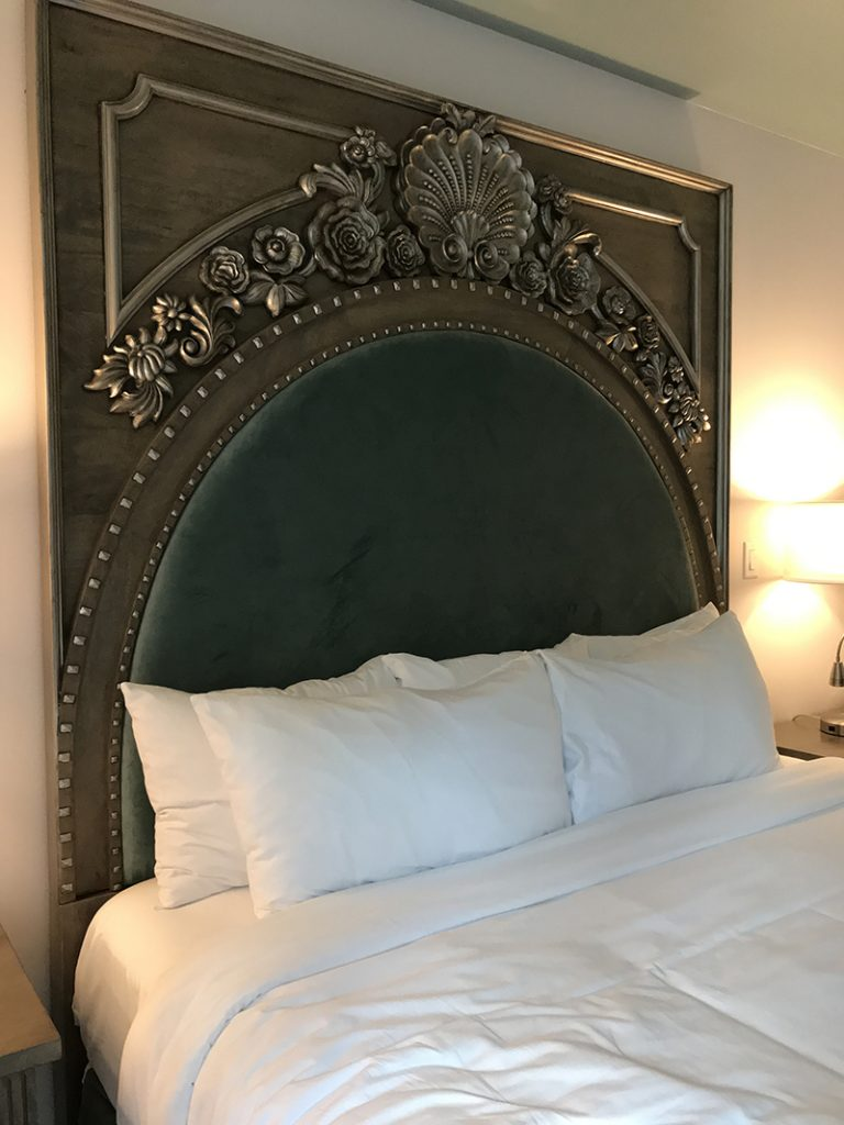 French style queen bed at Mirbeau Inn & Spa in Rhinebeck, NY